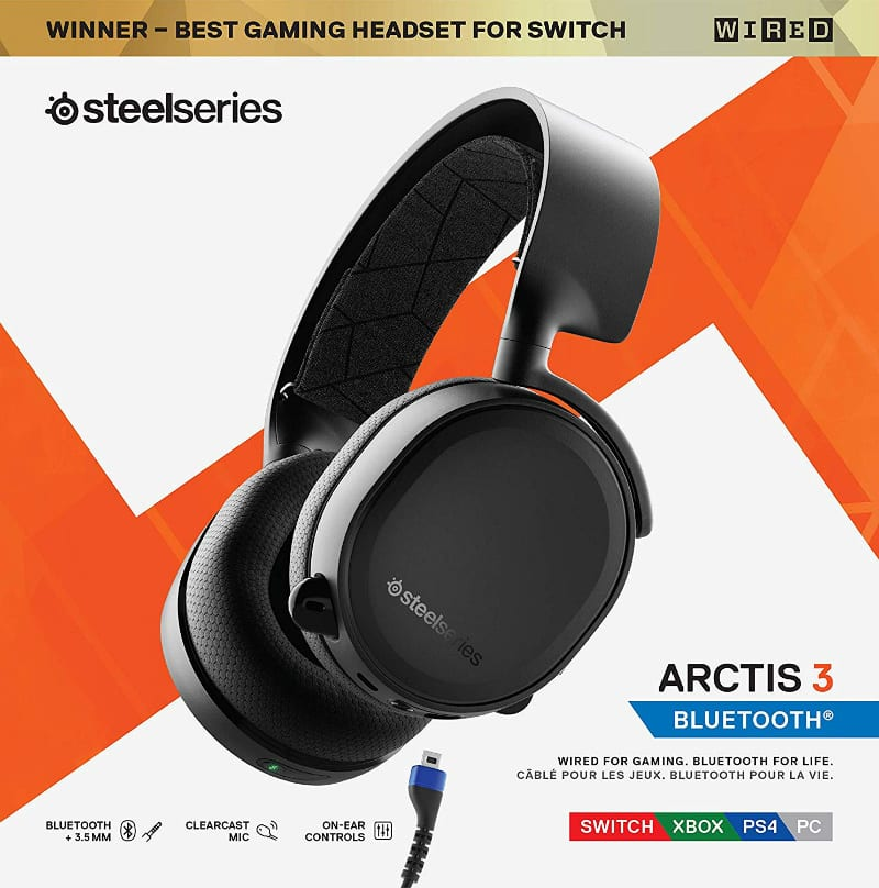 SteelSeries Arctis 3 Bluetooth for competitive gaming